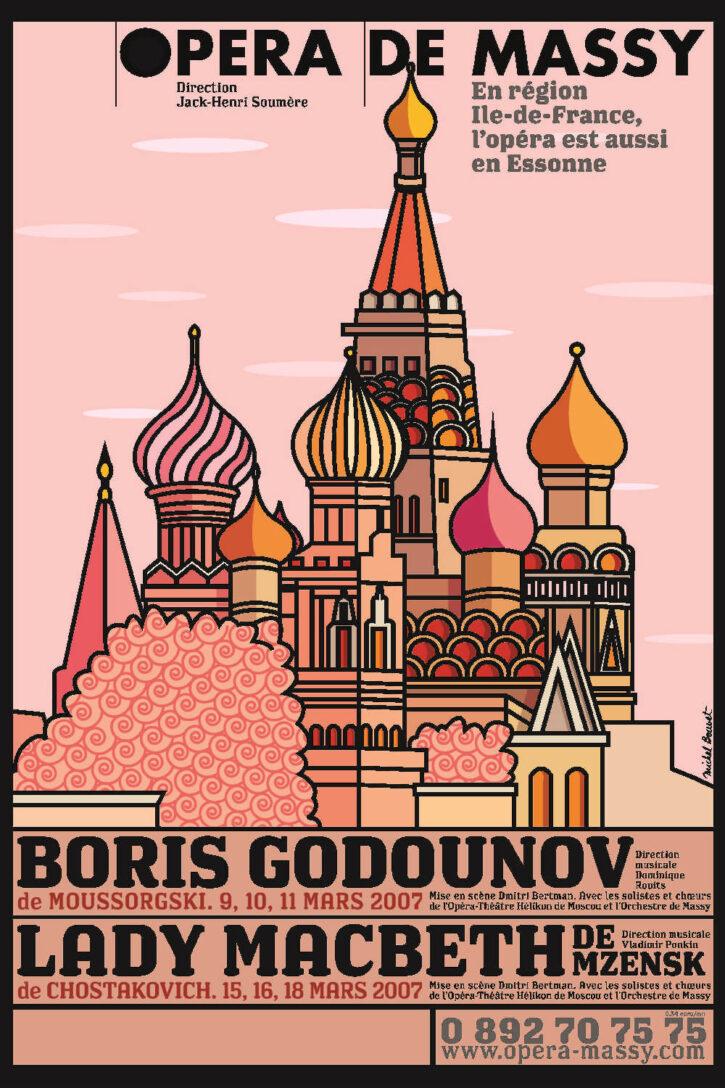 Boris Godounov/Lady Macbeth de Mzensk – Affiche 70×100 cm