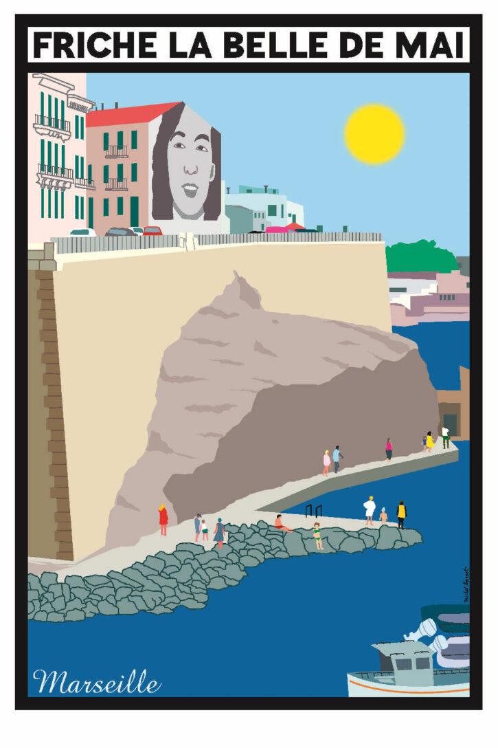 Marseille – Affiche 70×100 cm