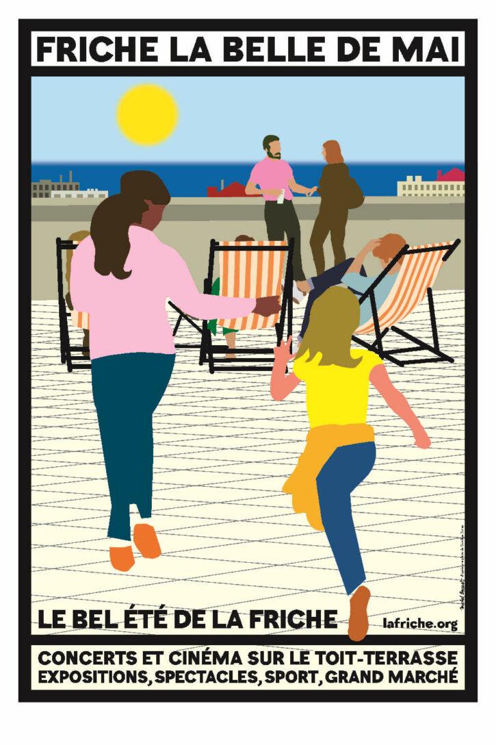 Le bel été de la Friche – Affiche 70×100 cm