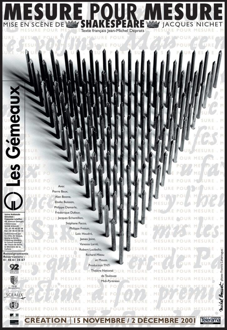 Mesure pour mesure 2001 – Affiche 70×100 cm